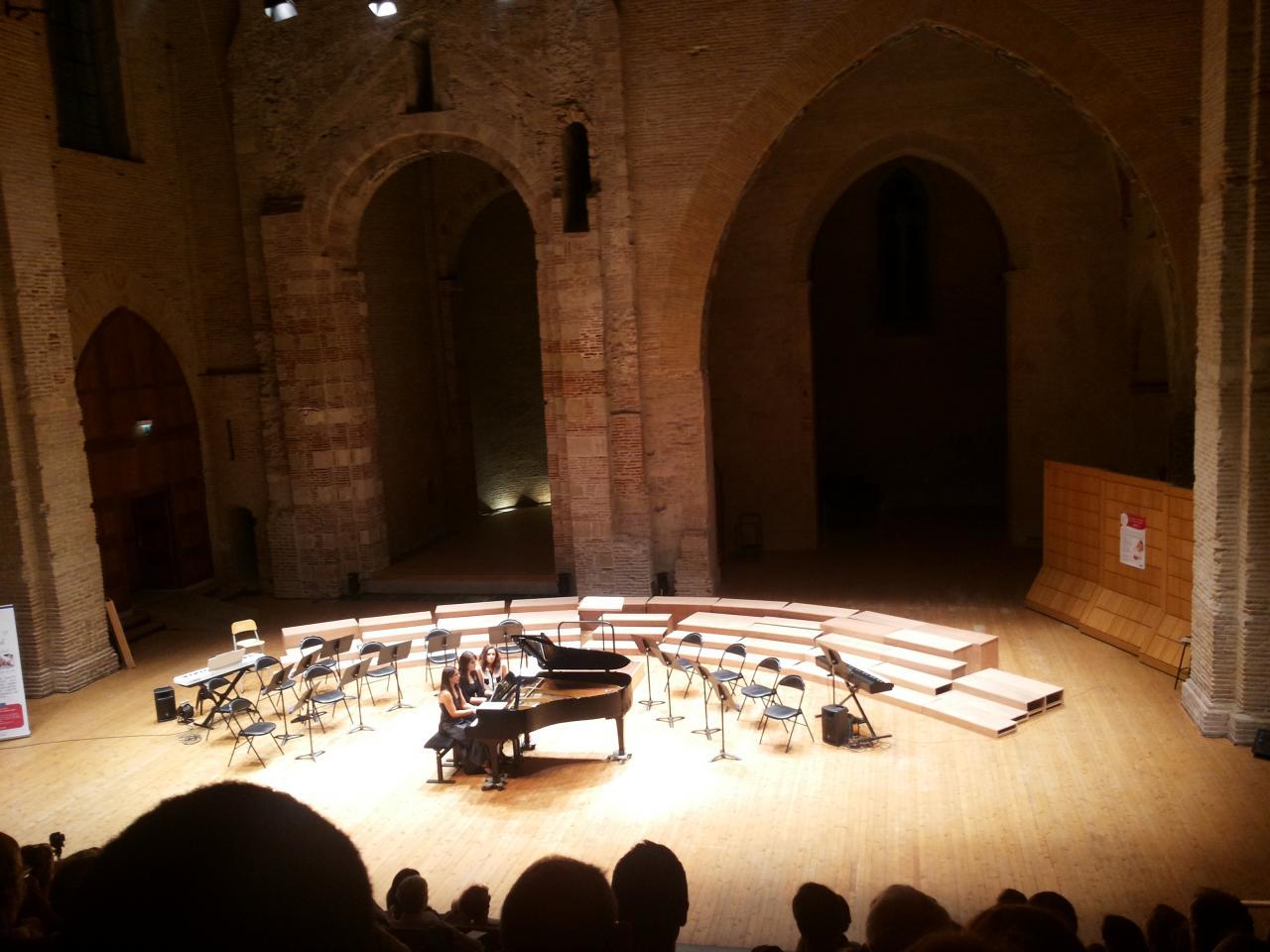 Concert de piano à 4 mains, Auditorium Saint-Pierre-des-Cuisines, Toulouse, octobre 2016